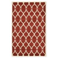 """Unique Loom Seattle Trellis 3'3"""" X 5'3"""" Powerloomed Area Rug in Red"""