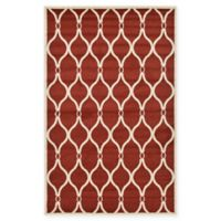 Unique Loom Seattle Trellis 5' X 8' Powerloomed Area Rug in Red