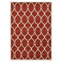 Unique Loom Seattle Trellis 7' X 10' Powerloomed Area Rug in Red