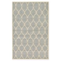 Unique Loom Seattle Trellis 5' X 8' Powerloomed Area Rug in Light Gray