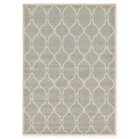 Unique Loom Seattle Trellis 7' X 10' Powerloomed Area Rug in Light Gray