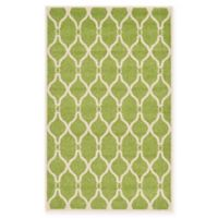 "Unique Loom Seattle Trellis 3'3"" X 5'3"" Powerloomed Area Rug in Green"
