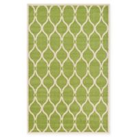 Unique Loom Seattle Trellis 5' X 8' Powerloomed Area Rug in Green