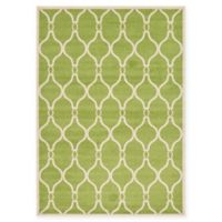 Unique Loom Seattle Trellis 7' X 10' Powerloomed Area Rug in Green