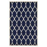 Unique Loom Seattle Trellis 5' X 8' Powerloomed Area Rug in Navy