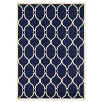 Unique Loom Seattle Trellis 7' X 10' Powerloomed Area Rug in Navy
