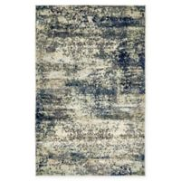 Unique Loom Seine Ethereal 5' X 8' Powerloomed Area Rug in Navy