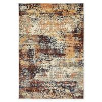 Unique Loom Seine Ethereal 4' X 6' Powerloomed Area Rug in Brick Red