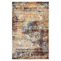 Unique Loom Seine Ethereal 5' X 8' Powerloomed Area Rug in Brick Red