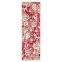 "Unique Loom Seashell Capri 6'7"" Runner Powerloomed in Pink"
