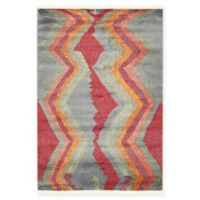 """Unique Loom Sioux Tribe 4'3"""" X 6' Powerloomed Area Rug in Gray"""