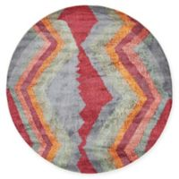 """Unique Loom Sioux Tribe 5'5"""" Round Powerloomed Area Rug in Gray"""