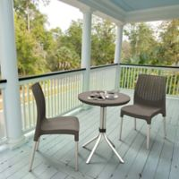 Keter Chelsea 3-Piece Bistro Set in Harvest Brown