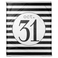 Designs Direct Halloween October 31st Stripes Fleece Throw Blanket