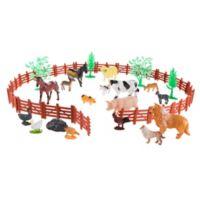 Hey! Play! Farm Animal Figures and Barnyard Set