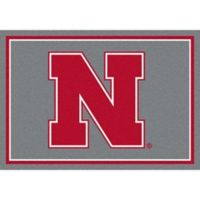 University of Nebraska 7-Foot 8-Inch x 10-Foot 9-Inch Large Spirit Rug