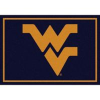 West Virginia University 3-Foot 10-Inch x 5-Foot 4-Inch Small Spirit Rug