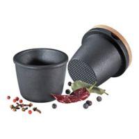 Zassenhaus Cast Iron Salt/Pepper Grinders in Black (3 piece set)