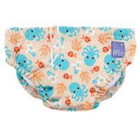 Bambino Mio® Size 24-36M Blue Squid Reusable Swim Diaper