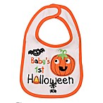 "Baby Starters® ""Baby's First Halloween"" Bib in White"