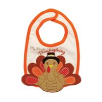 "Baby Starters® ""Baby's First Thanksgiving"" Bib in White"