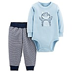 carter's® Size 9M 2-Piece Mom's Little Monster Bodysuit and Pant Set in Blue