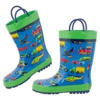 Stephen Joseph® Size 13 Transportation Rain Boot