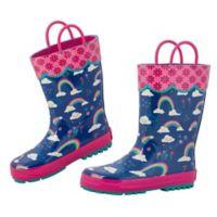 Stephen Joseph® Size 13 Rainbow Rain Boot