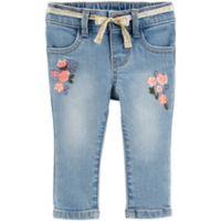 OshKosh B'gosh® Size 6M Floral Denim Pant