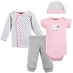Luvable Friends® Preemie 4-Piece Pink Sheep Layette Set
