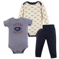 Hudson Baby® Size 6-9M 3-Piece Football Bodysuit and Pants Set