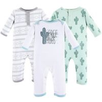 Yoga Sprout Size 6-9M 3-Pack Free Hugs Union Suit