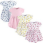 Luvable Friends® Size 6-9M 4-Pack Floral Dresses in Pink