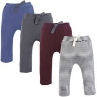 Touched by Nature Size 18-24M 4-Pack Organic Cotton Pants in Blue/Grey/Red