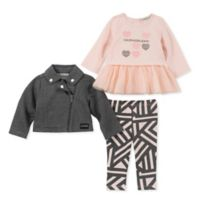 Calvin Klein Size 18M 2-Piece Velour Logo Top and Pant Set