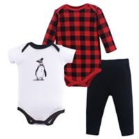 Hudson Baby® Size 18-24M 3-Piece Penguin Layette Set in Red