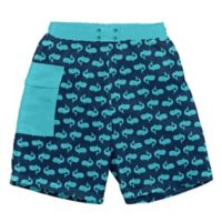 i play.® Size 18M Whales Swim Trunks with Built-in Reusable Swim Diaper in Navy