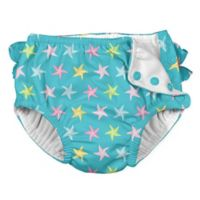 i play.® Size 24M Starfish Ruffle Snap Swim Diaper in Aqua