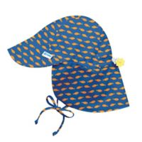 i play.® Newborn Goldfish Breathable Flap Sun Protection Hat in Royal Blue
