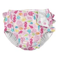 i play.® Size 6M Sealife Snap Swim Diaper in Pink