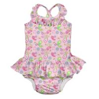 i play.® Size 3T Paisley Swimsuit with Built-In Swim Diaper in Pink