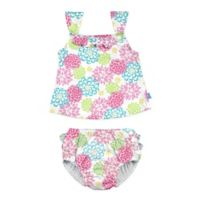 i play.® Size 6M 2-Piece Floral Tankini with Swim Diaper Set in White