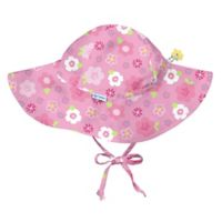 i play.® Size 0-6M Floral Brim Sun Hat in Hot Pink