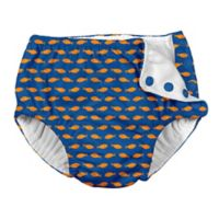i play.® Size 6M Goldfish Snap Swim Diaper in Royal