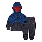 Nike® Colorblock Size 12M 2-Piece Speckle Hoodie and Pants Set in Blue