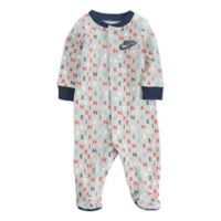Nike® Size 3M Logo Print Footed Coverall in Grey