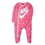 Nike® Size 6M Smiley Print Footed Coveralls in Pink