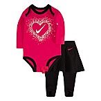 Nike® Size 9M 2-Piece Long Sleeve Bodysuit and Skirted Leggings in Black