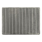 "Micro Plush 17"" x 24"" Memory Foam Bath Mat in Silver"