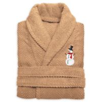 Herringbone Snowman Size Small/Medium Bathrobe in Sand